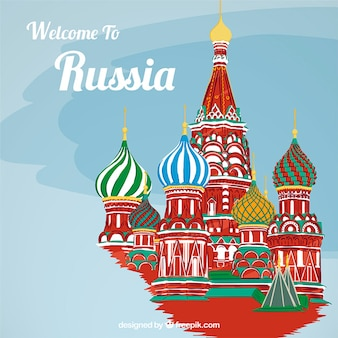 Colored russia background