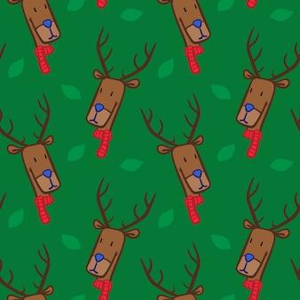 Colored scarf deer leaf pattern