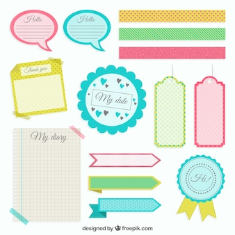 Colored scrapbooking elements