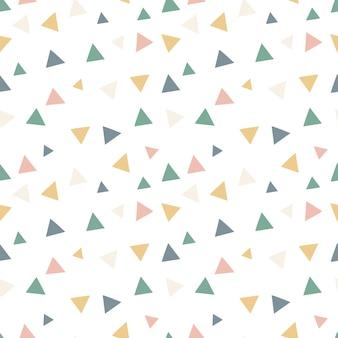 반복되는 삼각형으로 색된 완벽 한 패턴 handdrawn 스칸디나비아 삼각형 패턴