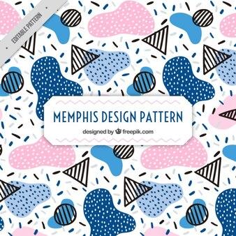 Colored shapes memphis pattern