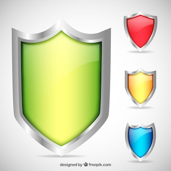 Colored shields