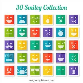 Colorate icone smiley collezione