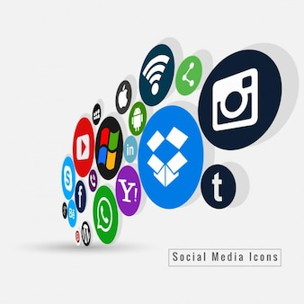 Colored social media icons