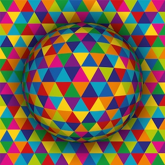 Colored spherical 3d background pattern.