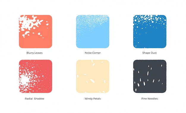 Colored squares collection