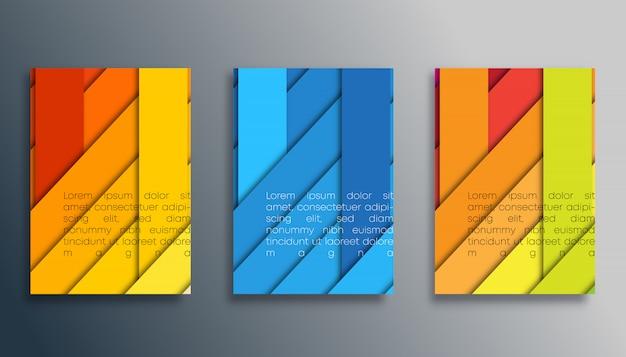 壁紙、チラシ、ポスター、パンフレットの表紙、背景、カード、タイポグラフィまたは他の印刷製品の色のストライプデザイン。ベクトルイラスト