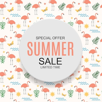 Colored summer sale concept background.  illustration