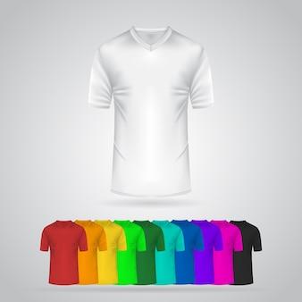 カラーtシャツテンプレートコレクションイラスト
