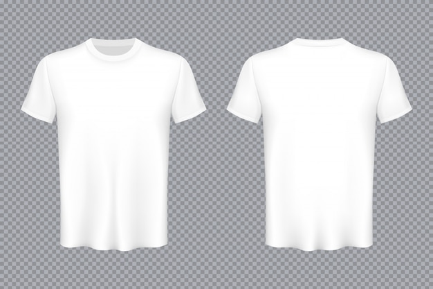 Colored t-shirts blank mockup advertising template
