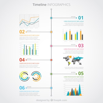 컬러 타임 라인 infographic