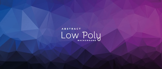Colored triangle low poly background in pink and blue colors