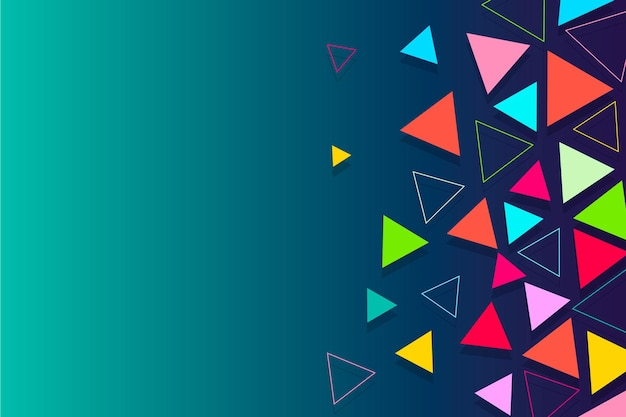 Цветной фон треугольников с градиентами