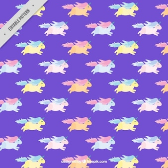 Colored unicorns pattern