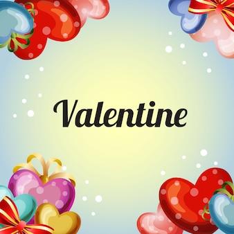 컬러 발렌타인 사랑 카드