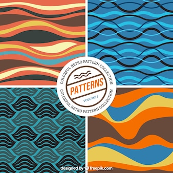 Colored waves patterns pack