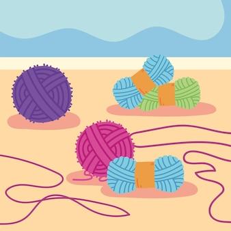 Colored yarn wool knit