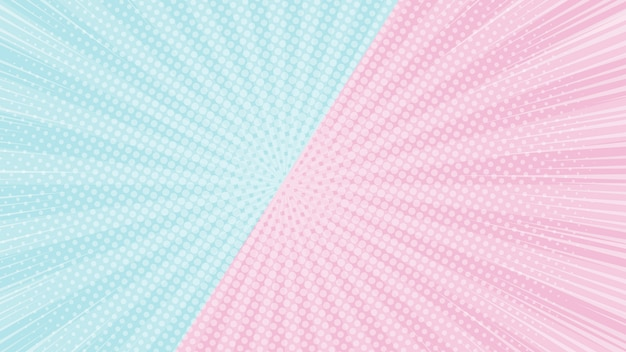 Colorful 2 tones pink and blue background with halftone and sunlight effect web page screen size background banner
