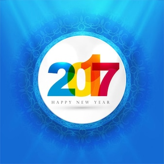 colorful 2017 blue background