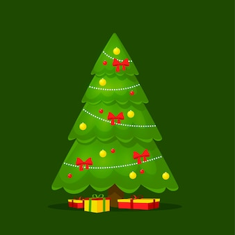 Colorful 2d christmas tree