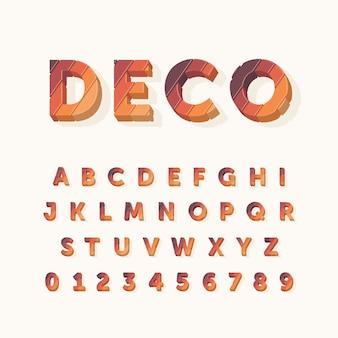 Красочный дизайн 3d-алфавита