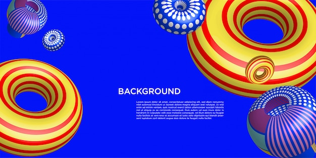 Colorful 3d background banner template