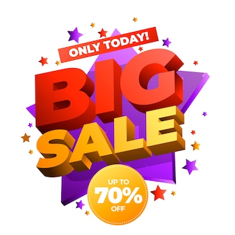 Colorful 3d banner big sale