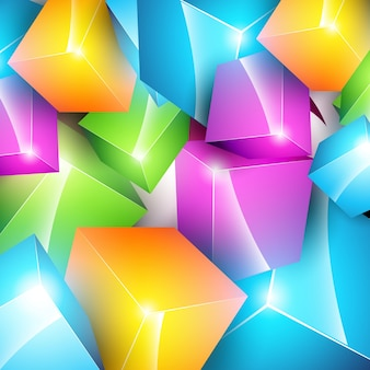 Colorful 3d cube background