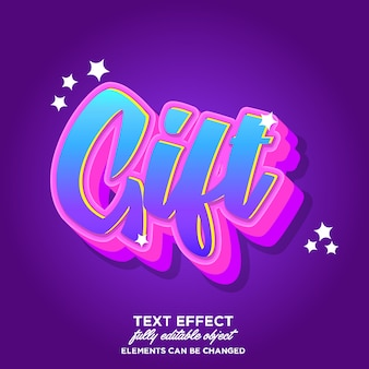 Colorful 3d font effect for sticker