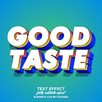 Colorful 3d font effect