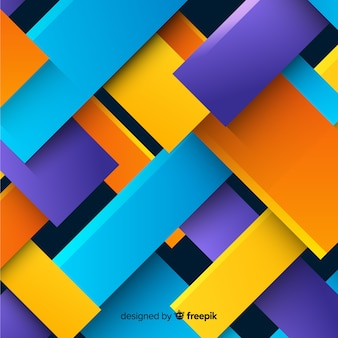 Colorful 3d geometric shapes background