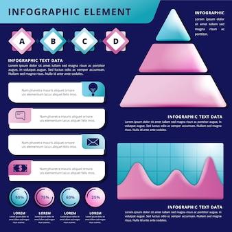 화려한 3d 광택 infographic