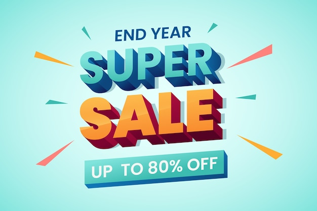 Colorful 3d sale background theme