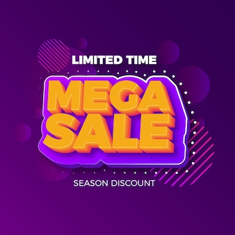 Colorful 3d sales background design