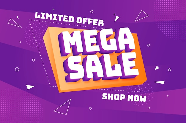 Colorful 3d sales background