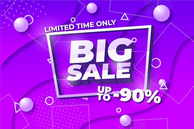 Colorful 3d spromotional sale background concept