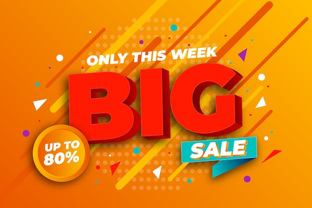 Colorful 3d spromotional sale wallpaper