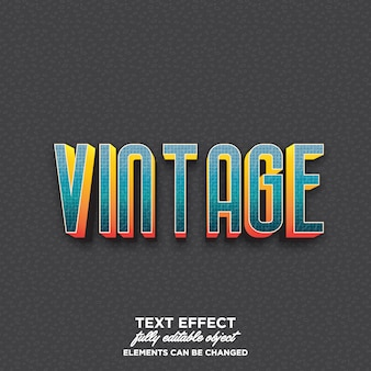 Colorful 3d text with vintage style