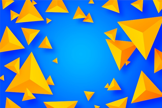 Colorful 3d triangles concept for background