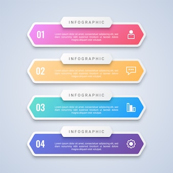 Colorful 4 steps infographic  template with 4 step labels for workflow layout, diagram, web
