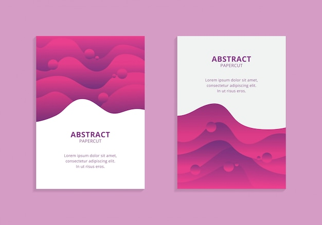 Colorful a4 wavy shapes