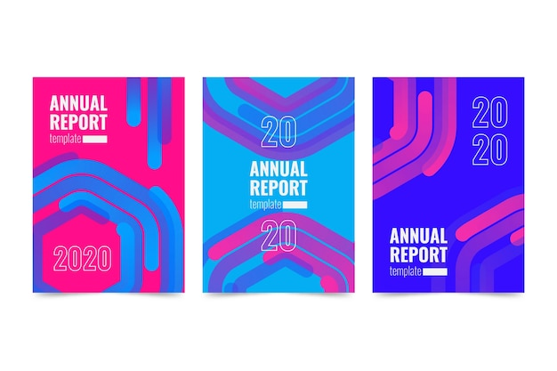 Colorful aabstract annual report template