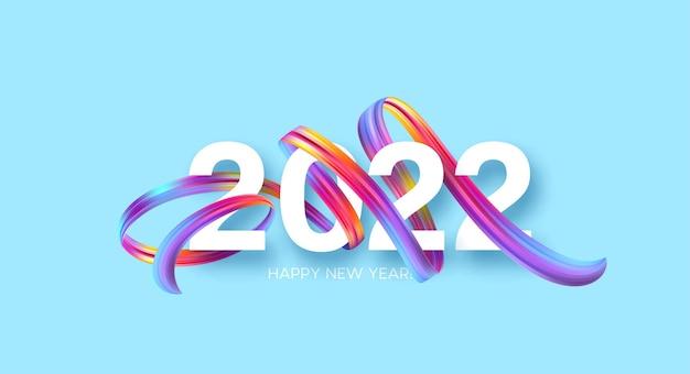 Sfondo colorato astratto 2022 Vettore gratuito