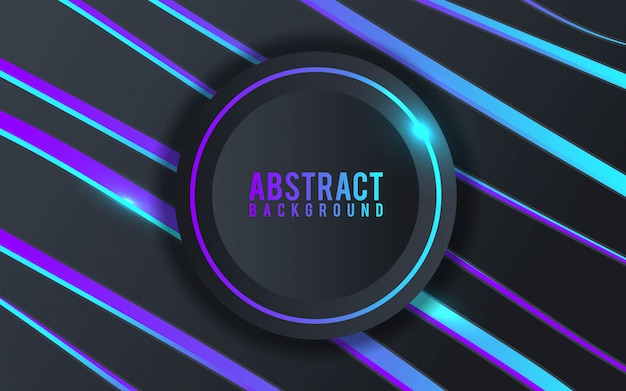 Colorful abstract 3d background with black paper layers