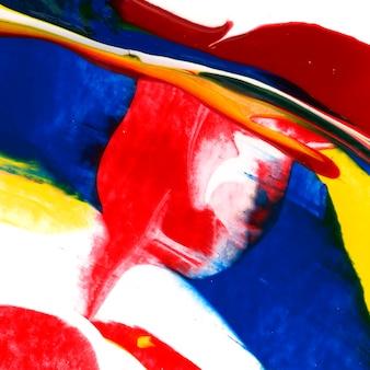 다채로운 추상 아크릴 브러시 스트로크 질감 배경
