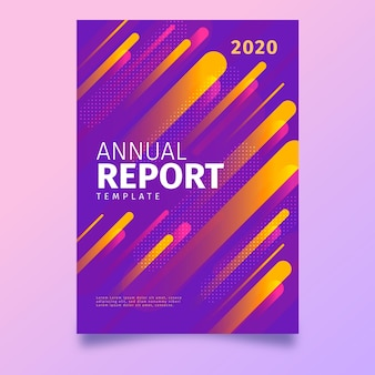 Colorful abstract annual report template design