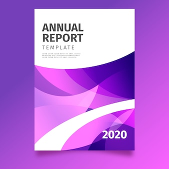 Colorful abstract annual report template theme