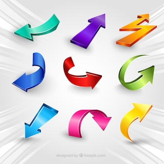 Colorful abstract arrows