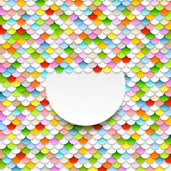 Красочный фон абстрактного искусства. бумажные круги векторный дизайн