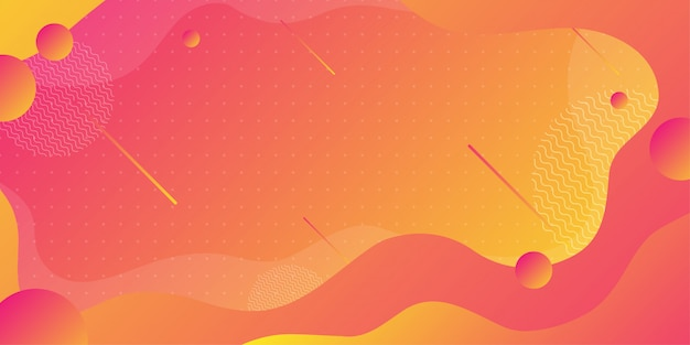 Colorful abstract background and gradation using minimal geometry and wave shape
